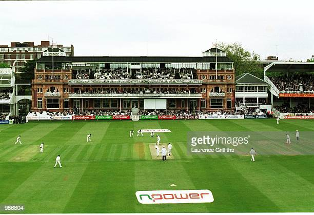 General view of play during the second days play in the npower First Test Match between England and Pakistan at Lords Cricket Ground Mandatory Credit...