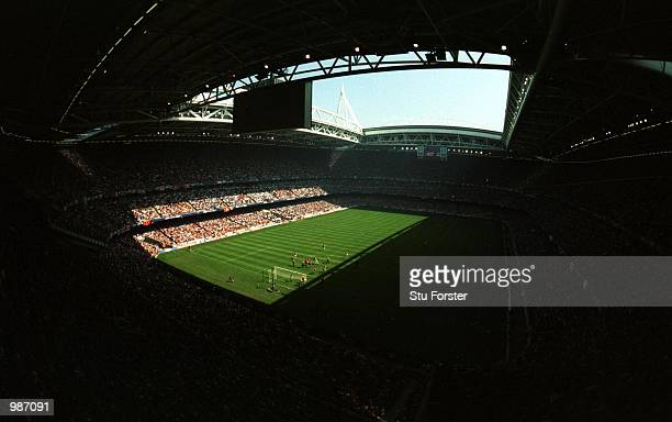 General view of the Millennium Stadium during the AXA sponsored 2001 FA Cup Final between Arsenal v Liverpool at the Millennium Stadium Cardiff...
