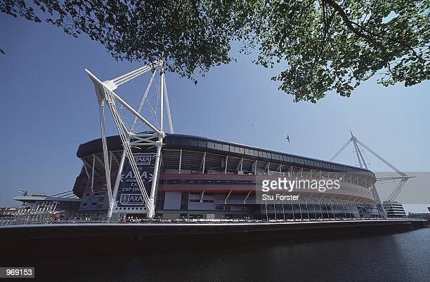 General view of the Millennium Stadium in Cardiff Wales Home to the 2001 AXA sponsored FA Cup Final match between Arsenal and Liverpool Mandatory...
