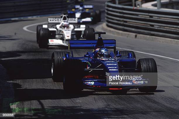 Prost driver Jean Alesi of France in action during the Formula One Monaco Grand Prix in Monte Carlo Monaco Mandatory Credit Pascal Rondeau /Allsport