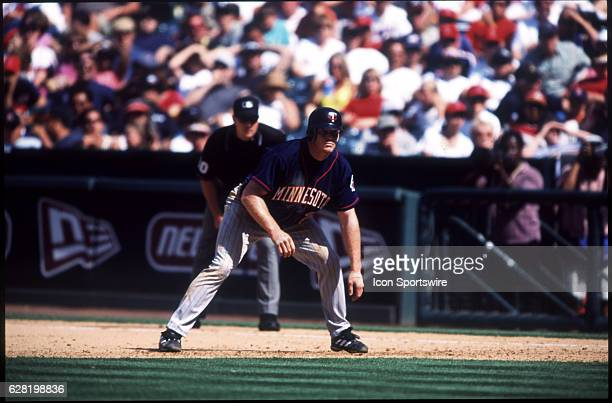 Bobby Kielty of the Minnesota Twins during the Twins 52 victory over the Anaheim Angels at Edison Field in Anaheim CA