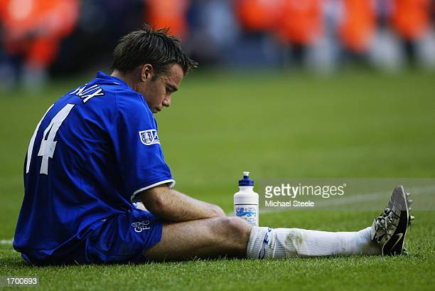 Dejection for Graeme Le Saux of Chelsea after the AXA sponsored FA Cup Final between Arsenal and Chelsea played at the Millennium Stadium in Cardiff...