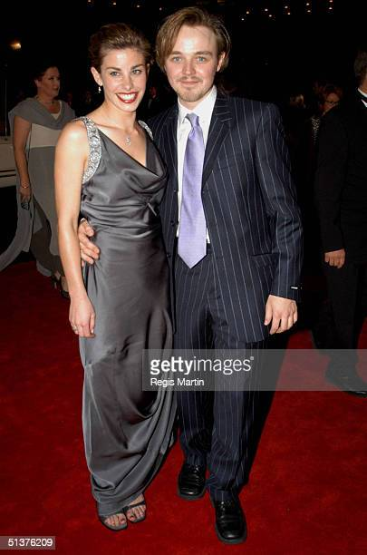 11 May 2003 X102 BROOKE SATCHWELL and MATTHEW NEWTON arriving on the red carpet for the 45th annual TV Week Logie Awards 2003 held at the Crown...