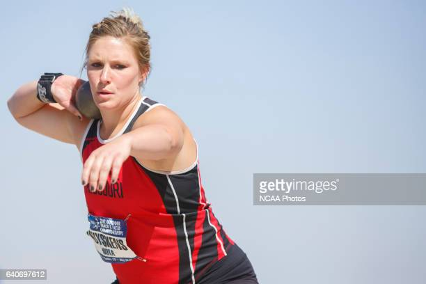 Kayla Muyskens competes in the Women's Shot Put competition during the NCAA Division II Outdoor Track and Field Championships at the Neda and Eddie...