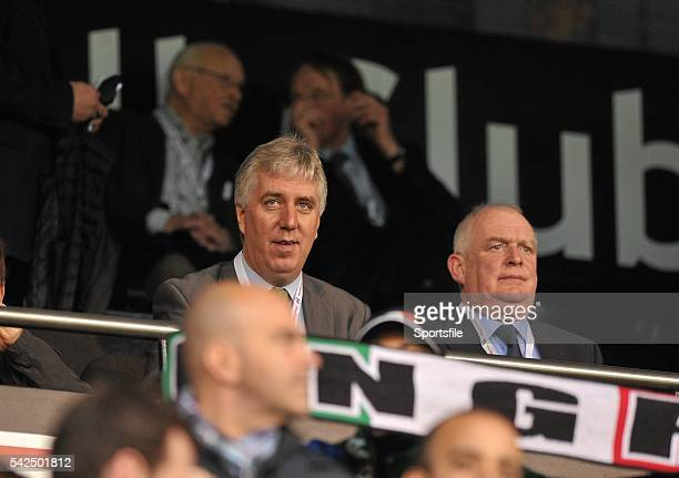 31 May 2014 FAI Chief Executive John Delaney with FAI president Paddy McCaul in the stand before the start of the game International Friendly...