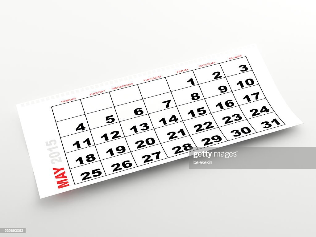 May 2015 calendar : Stock Photo