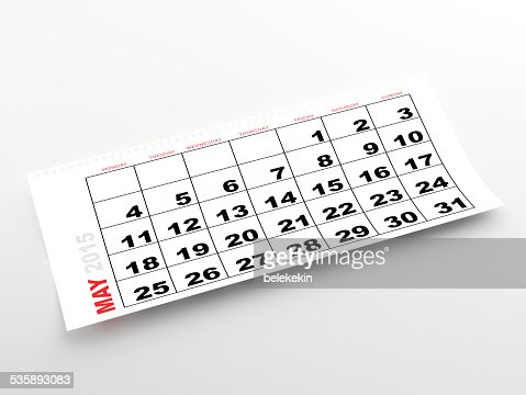 May 2015 calendar : Stock Photo