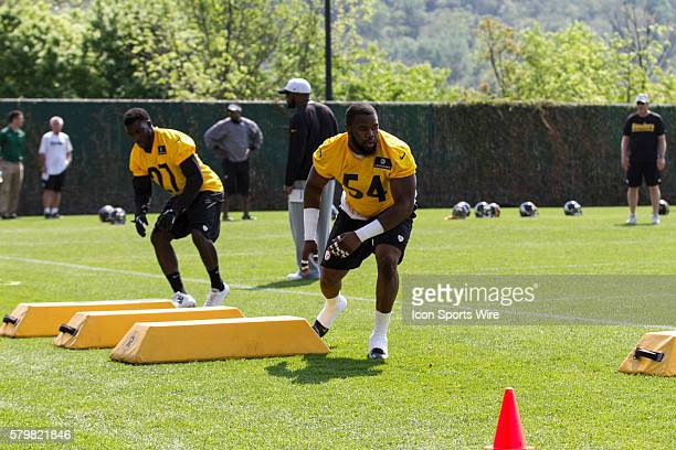 Pittsburgh Steelers linebacker Shawn Lemon during the 2015 Pittsburgh Steelers Rookie Minicamp at the UPMC Sports Performance Complex in Pittsburgh Pa