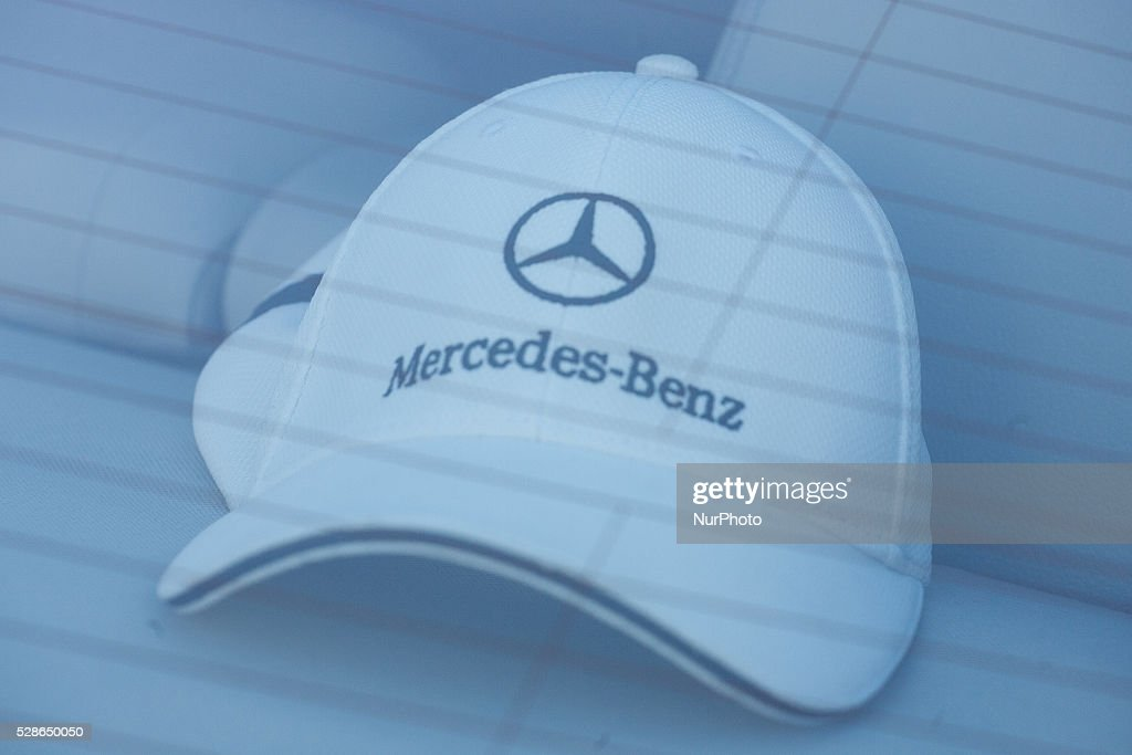 May 2016 - A Mercedes logo is seen on a parked car. Daimler, the maker of Mercedes cars will build its first factory in Poland producing four cylinder engines starting 2019 in the south-west of the country.