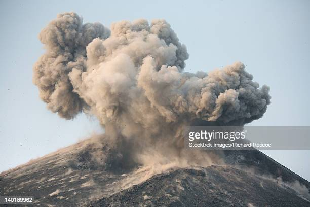 May 21, 2008 - Ash cloud from strong Strombolian / Vulcanian eruption of Anak Krakatau volcano, Sunda Strait, Java, Indonesia.