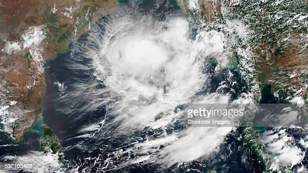 May 21, 2014 - Satellite view of a tropical cyclone in the Bay of Bengal.