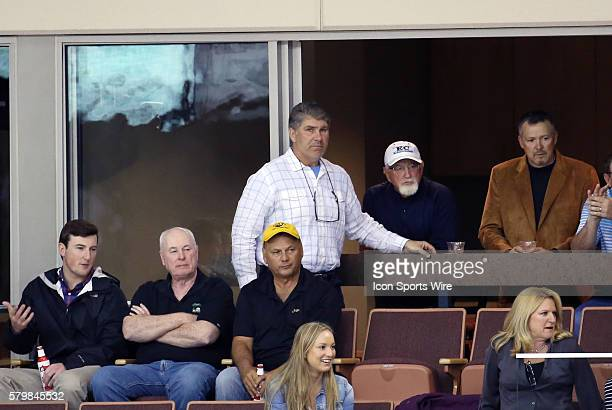 Boston Bruin legend and NHL Hall of Famer Raymond Bourque on hand to watch his son Hartford Wolf Pack Left Wing Chris Bourque The Manchester Monarchs...