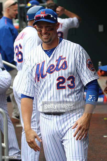 New York Mets Left field Michael Cuddyer [2799] in the dugout prior to the start of a MLB National League game between the St Louis Cardinals and the...