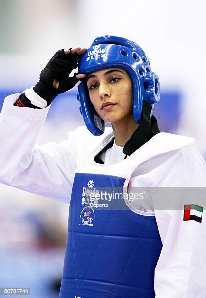 May 21 Beijing United Arab Emirates' princess Sheikka Maitha Mohammed Rashed alMaktoum at the 2007 World Taekwondo Championships in Beijing China on...
