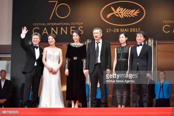 CANNES May 22 2017 South Korean actor Kwon Haehyo actress Cho Yunhee actress Kim Minhee director Hong Sangsoo actress Kim Saebyuk and director of...
