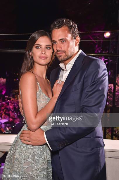 De Grisogono event given by the jeweler Fawaz Gruosi at the Cap Eden Roc hotel in Antibes during the 70th edition of the Cannes Film Festival Model...