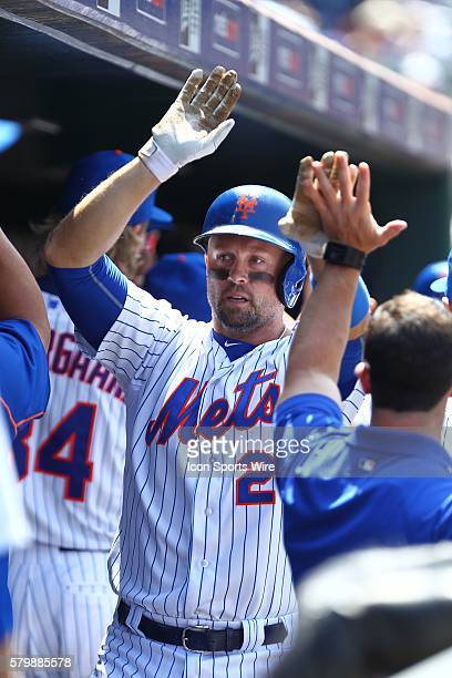 New York Mets Left field Michael Cuddyer [2799] in the dug out after a 2 run homer during a MLB National League game between the Philadelphia...