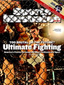 May 28 2007 Sports Illustrated Cover Mixed Martial Arts UFC 69 Shootout Roger Huerta in action kicking Leonard Garcia during Lightweight bout at...