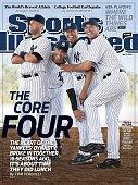 Baseball Portrait of New York Yankees Derek Jeter Jorge Posada Mariano Rivera and Andy Pettitte Tampa FL 3/26/2010 CREDIT Walter Iooss Jr
