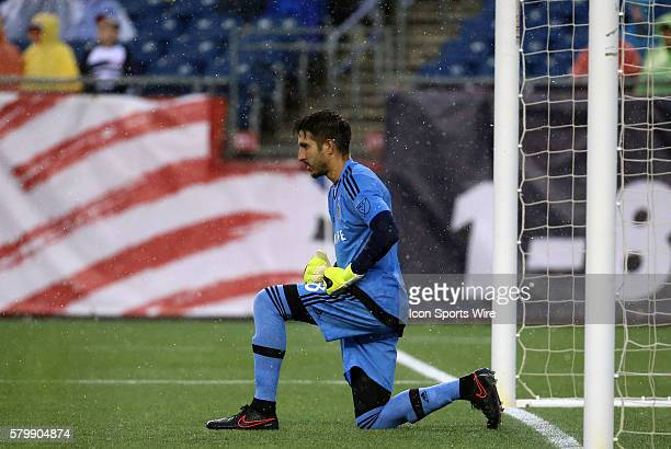 Los Angeles Galaxy goalkeeper Jaime Penedo has a moment before the start The New England Revolution and the Los Angeles Galaxy played to a 22 draw in...
