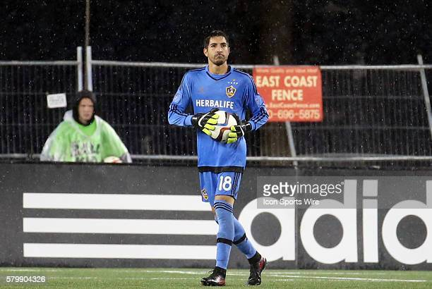 Los Angeles Galaxy goalkeeper Jaime Penedo holds up the ball The New England Revolution and the Los Angeles Galaxy played to a 22 draw in a regular...
