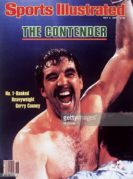 May 4 1981 Sports Illustrated Cover Heavyweight Boxing Closeup of Gerry Cooney victorious after winning fight vs Jimmy Young at Convention Hall...