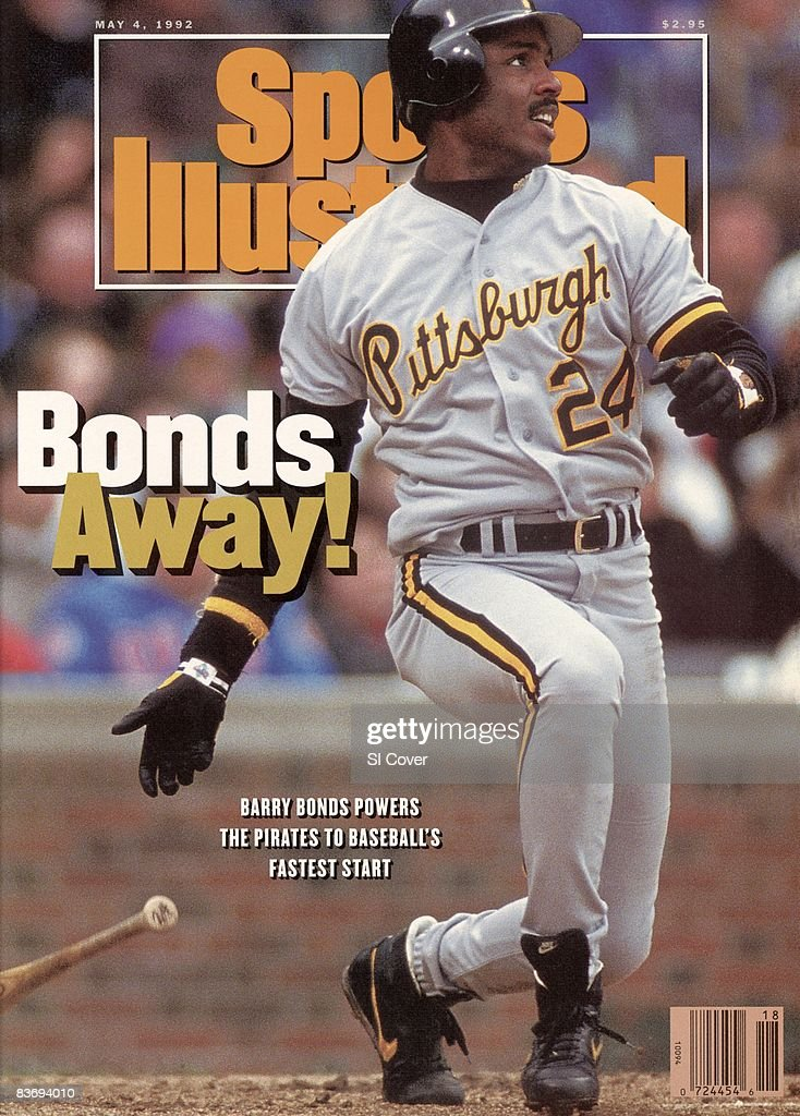Baseball Pittsburgh Pirates Barry Bonds in action at bat vs Chicago Cubs Chicago IL 4/25/1992 CREDIT John Iacono