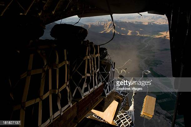 May 4, 2012 - Critical supplies are delivered to an undisclosed location in Afghanistan via airdrop by a C-17 Globemaster III.
