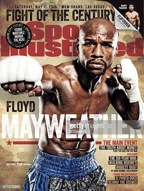 Boxing WBA/ WBC/ WBO Welterweight Title Preview Portrait of Floyd Mayweather Jr posing during training session photo shoot before fight vs Manny...