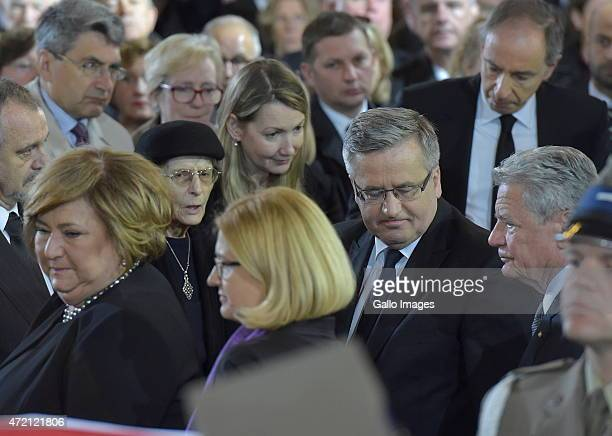 First Lady Anna Komorowska President of Poland Bronislaw Komorowski President of Germany Joachim Gauck and family attend Professor Wladyslaw...
