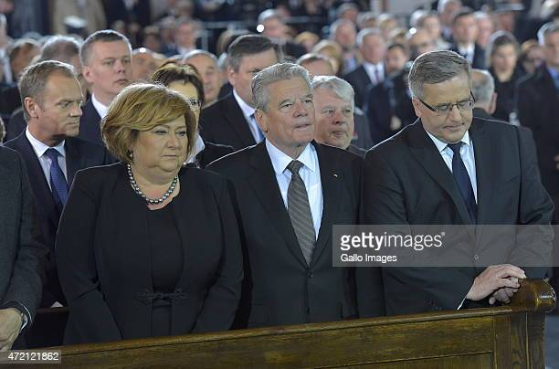 President of the European Council Donald Tusk First Lady Anna Komorowska Prime Minister Ewa Kopacz President of Germany Joachim Gauck Marshal of the...