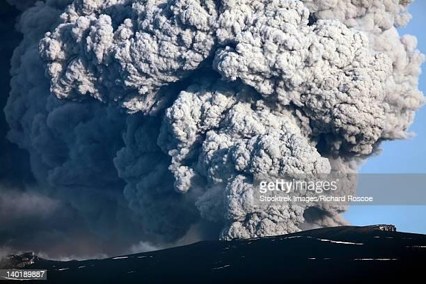 May 8, 2010 - Ash cloud erupting from Eyjafjallajokull Volcano, Iceland.