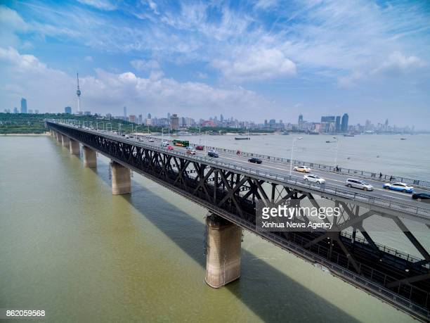 BEIJING May 8 2017 Photo taken on May 8 2017 shows the Wuhan Yangtze River Bridge in central China's Hubei Province The Yangtze the world's...