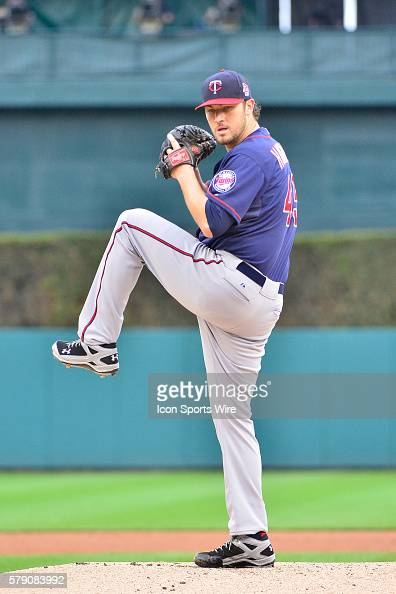 May 9 2014 Detroit MI Minnesota Twins starting pitcher Phil Hughes warms up prior to the first inning during the game on Friday evening Comerica Park...