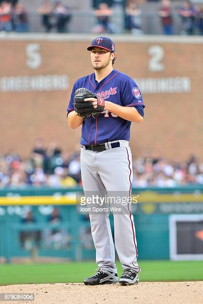 May 9 2014 Detroit MI Minnesota Twins starting pitcher Phil Hughes pitches in the first inning during the game on Friday evening Comerica Park...