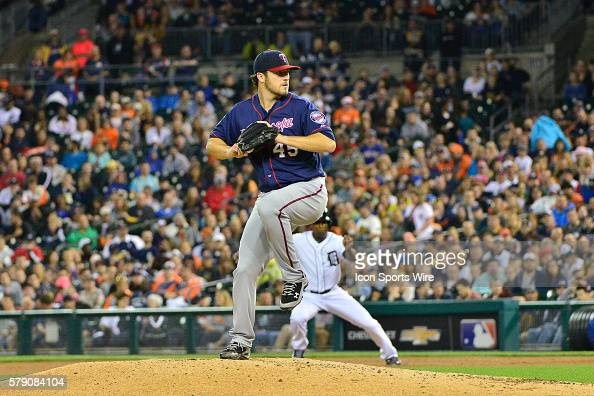 May 9 2014 Detroit MI Minnesota Twins starting pitcher Phil Hughes pitches during the seventh inning during the game on Friday evening Comerica Park...