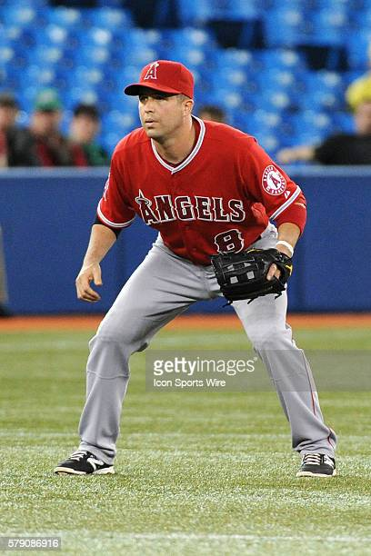 Los Angeles Angels of Anaheim Infield John McDonald [2416] in action during the Los Angeles Angels 43 victory over the Toronto Blue Jays at Rogers...