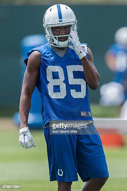 Indianapolis Colts wide receiver Ryan Lankford during the Indianapolis Colts Rookie Camp at Indiana Farm Bureau Football Center in Indianapolis IN
