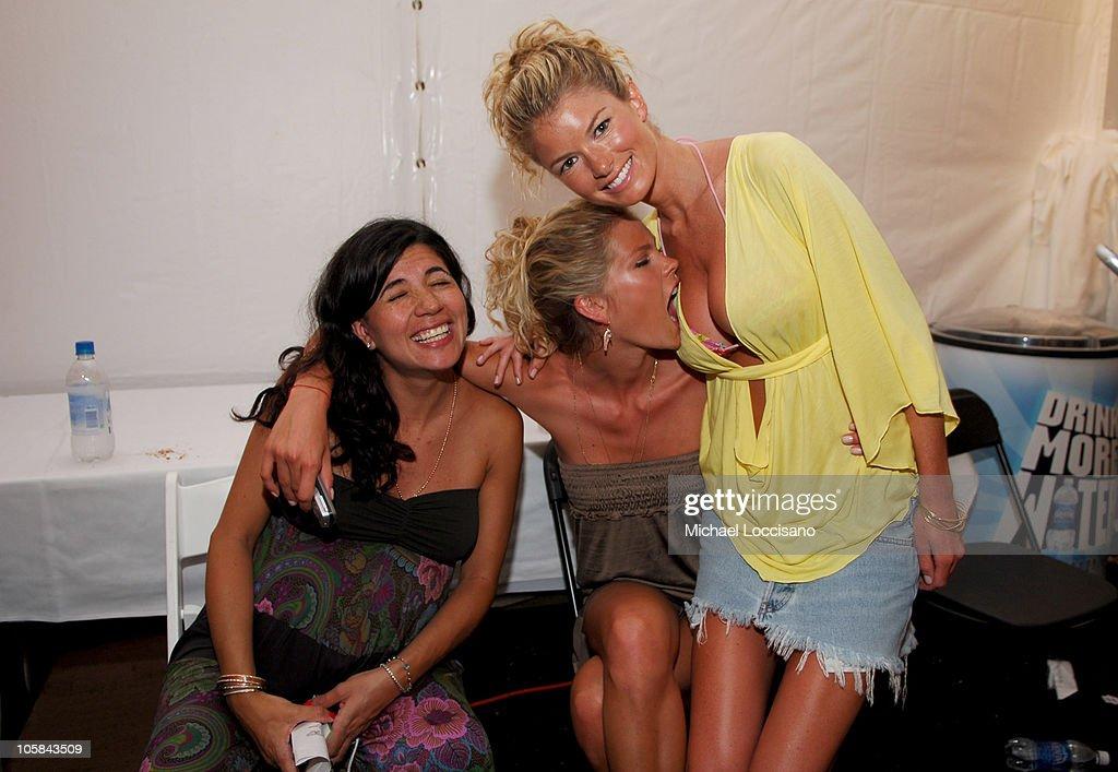 May Andersen and Marisa Miller Backstage at Sais by Rosa Cha