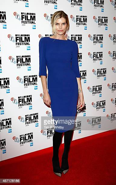 May Andersen attends the red carpet arrivals of 'A Second Chance' during the 58th BFI London Film Festival at Odeon West End on October 12 2014 in...
