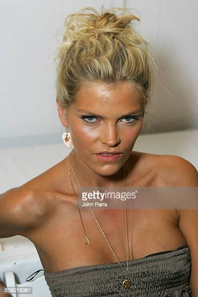 May Andersen backstage at Sais by Rosa Cha during Sunglass Hut Swim Shows Miami Presented by LYCRA Sais by Rosa Cha Backstage and Front Row at...