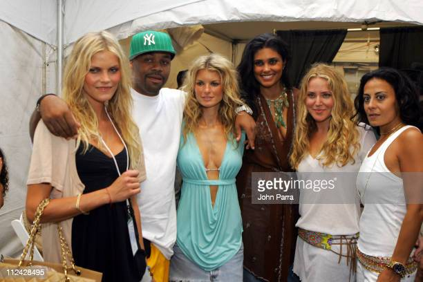 May Andersen Damon Dash Marisa Miller Stephanie HIrsch and guests backstage at Inca