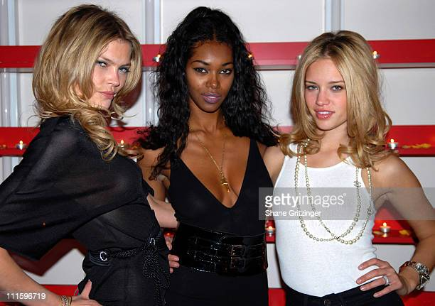 May Andersen Jessica White and Julie Ordon during Grand Opening of the Stuart Hirsch Lite Touch Salon in New York City April 25 2007 at Stuart Hirsch...