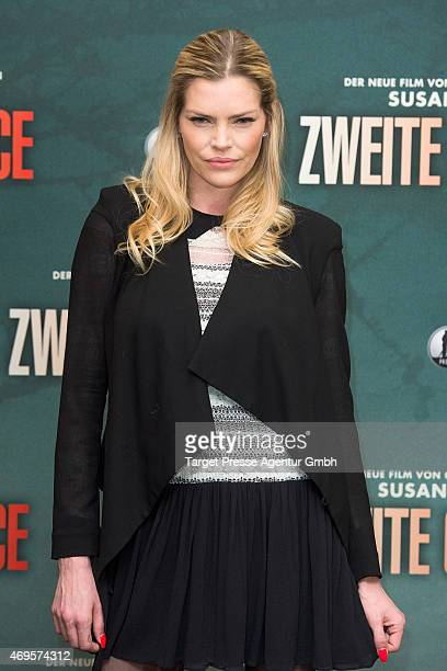 May Anderson attends a photocall for the film 'A Second Chance' at Regent Hotel on April 13 2015 in Berlin Germany