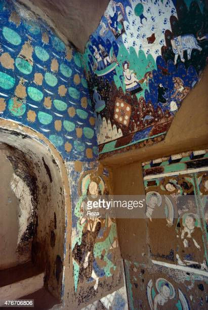 May Cave n°14 Kyzyl Xinjiang China These paintings decorate cave n°14's right angle On top of the cave's natural deterioration come the damages...