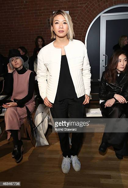 May Kwok attends the Tibi show during MercedesBenz Fashion Week Fall 2015 at The Waterfront on February 14 2015 in New York City