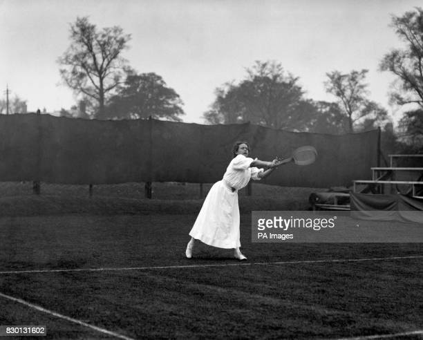 May Sutton Bundy the first American to win the Women's Tennis Single's championship pictured in action in 1907 She was born in Plymouth Devon but...