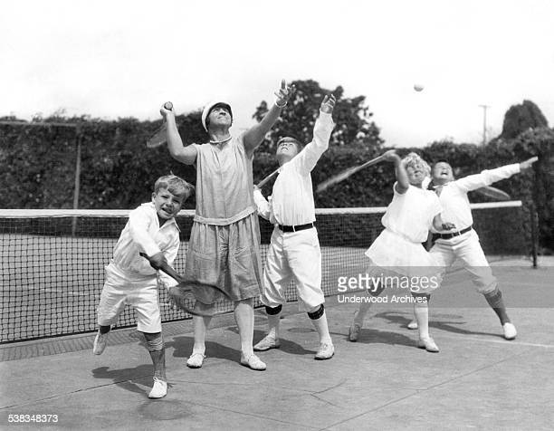 May Sutton Bundy won the US Tennis Open in 1904 and in 1905 was the first American woman to win Wimbledon Los Angeles California circa 1917 Here she...