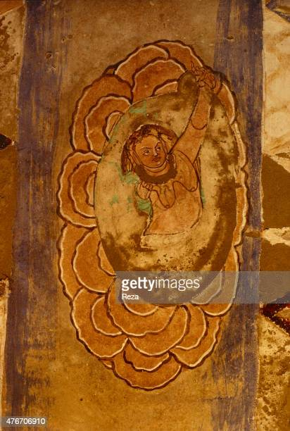 May Thousand Buddha caves Kyzyl Xinjiang Eastern Turkestan China Situated in the new cave n° 1 this painting decorates the right corridor's dome This...