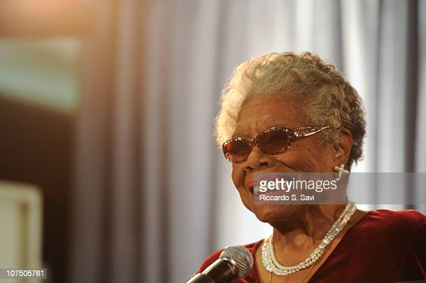 Maya Angelou attends the AARP Magazine's 2011 Inspire Awards at the Ronald Reagan Building on December 9 2010 in Washington DC